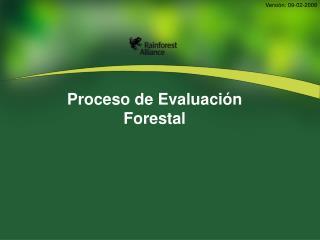 Proceso de Evaluación Forestal