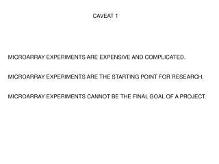 CAVEAT 1