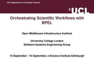 Orchestrating Scientific Workflows with BPEL