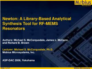 Newton: A Library-Based Analytical Synthesis Tool for RF-MEMS Resonators