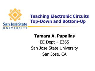 Teaching Electronic Circuits Top-Down and Bottom-Up