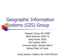 Geographic Information Systems (GIS) Group