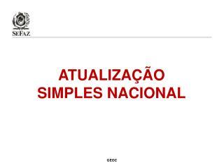 ATUALIZAÇÃO SIMPLES NACIONAL