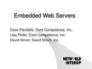 Embedded Web Servers