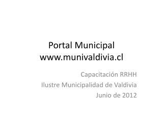 Portal Municipal munivaldivia.cl