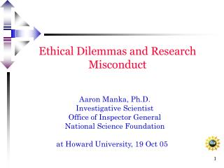 Ethical Dilemmas and Research Misconduct