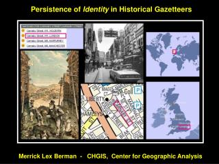 Persistence of  Identity  in Historical Gazetteers