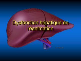Dysfonction h patique en r animation