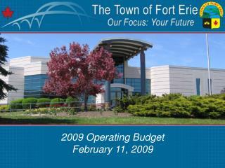 2009 Operating Budget February 11, 2009