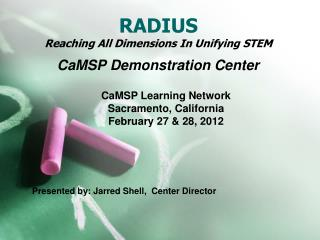 RADIUS Reaching All Dimensions In Unifying STEM