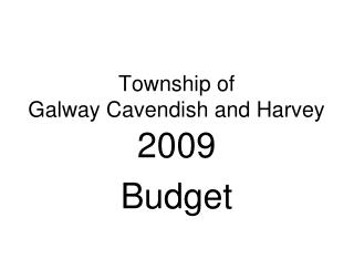 Township of  Galway Cavendish and Harvey