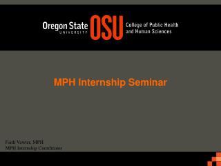 MPH Internship Seminar