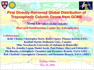 Xiong Liu ( xliu@cfa.harvard ) Harvard-Smithsonian Center for Astrophysics Collaborators: