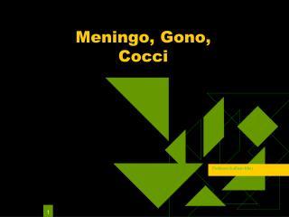 Meningo, Gono,  Cocci