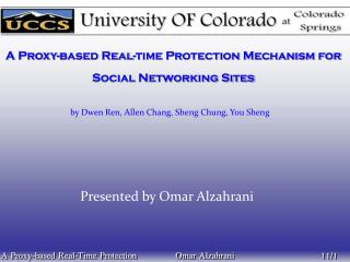 A Proxy-based Real-time Protection Mechanism for Social Networking Sites