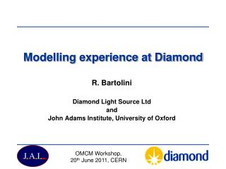 Modelling experience at Diamond