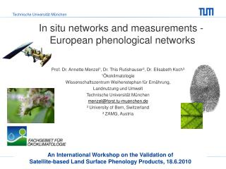 In situ networks and measurements -  European phenological networks