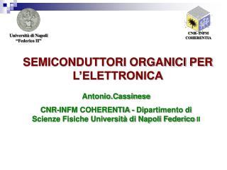 SEMICONDUTTORI ORGANICI PER L'ELETTRONICA