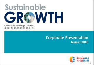 Corporate Presentation August 2010
