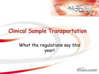 Clinical Sample Transportation