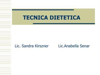 TECNICA DIETETICA