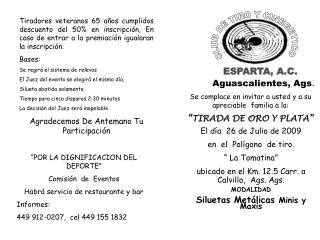 CLUB DE TIRO Y CINEGETICO