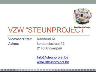 """VZW """"Steunproject"""""""