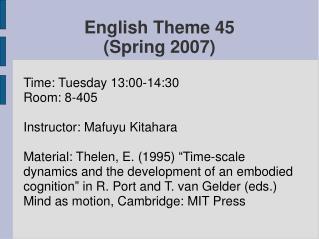 English Theme  45 (Spring 2007)
