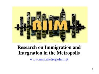 Research on Immigration and Integration in the Metropolis riimtropolis