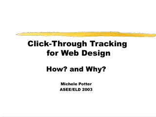 Click-Through Tracking  for Web Design