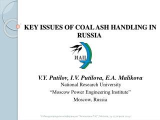key issues of coal ash handling in  russia