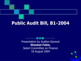 Public Audit Bill, B1-2004