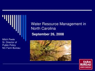 Water Resource Management in North Carolina