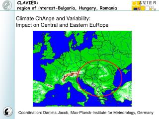 CLAVIER:  region of interest-Bulgaria, Hungary, Romania