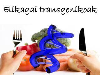 Elikagai transgenikoak
