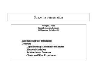 Space Instrumentation