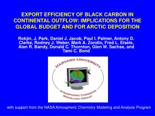 with support from the NASA Atmospheric Chemistry Modeling and Analysis Program