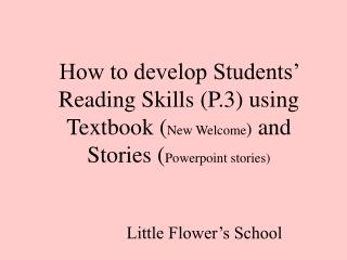 Little Flower�s School