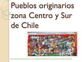 Pueblos originarios zona Centro y Sur de Chile