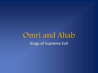 Omri  and Ahab