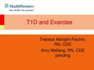 T1D and Exercise