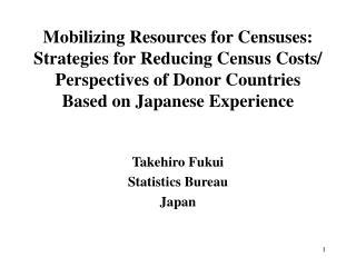Takehiro Fukui Statistics Bureau Japan