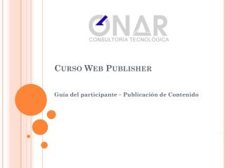 Curso Web Publisher