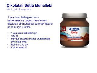 Çikolatalı Sütlü Muhallebi Yeni Ürün  Lansmanı