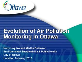 Evolution of Air Pollution Monitoring in Ottawa