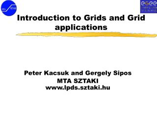 Introduction to Grids and Grid applications