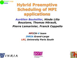Hybrid Preemptive Scheduling of MPI applications