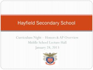 Hayfield Secondary School