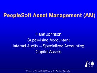 PeopleSoft Asset Management (AM)