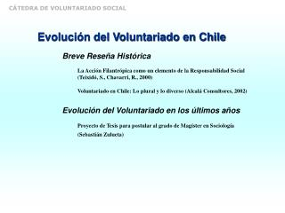 Evolución del Voluntariado en Chile
